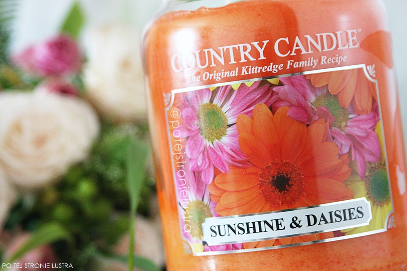 etykieta świecy country candle sunshine & daisies