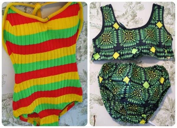 vintage bikinis swimsuit 60-luku 70-luku