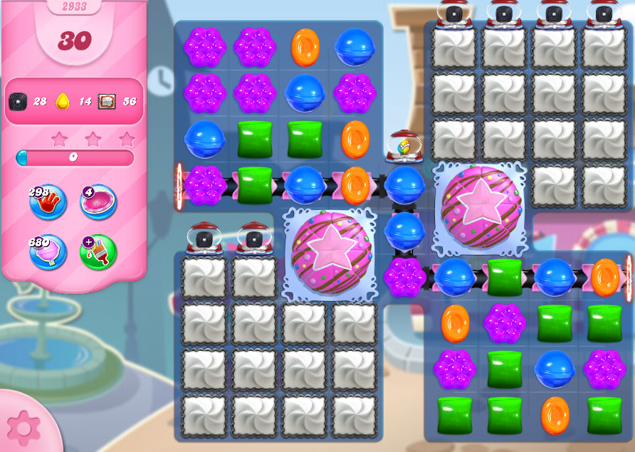 Candy Crush Saga level 2933