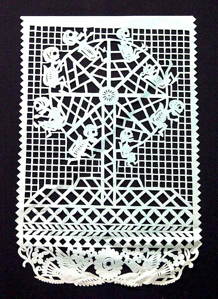 papercut skeletons at play, day of the dead