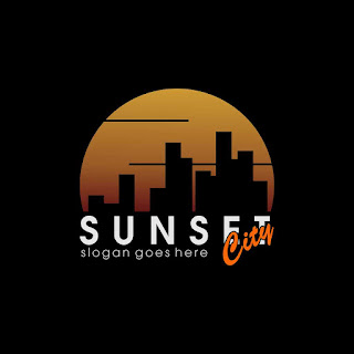 Sunset City Logo Template Free Download Vector CDR, AI, EPS and PNG Formats