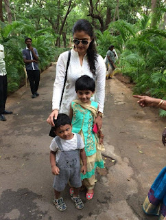 Keerthy Suresh in White Dress with Cute Children 1