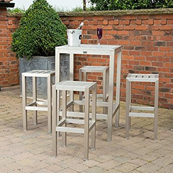 Idea About outdoor metal bar table set