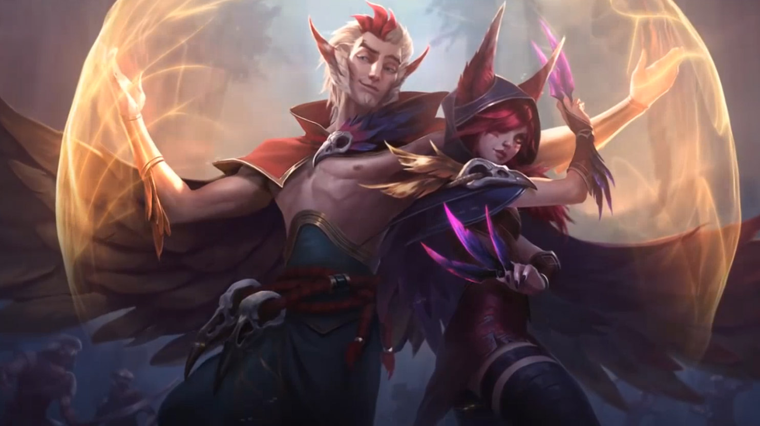 League of Legends Xayah Free Game Animated Wallpaper.