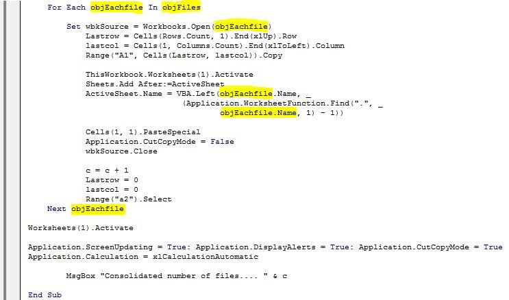 Merge Workbooks in One Workbook using VBA - Macro - Tactical ...