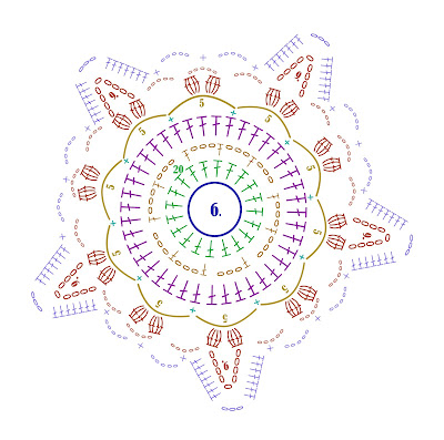 пятиугольный мотив крючком