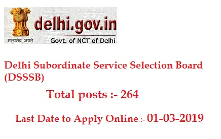 DSSSB Recruitment 2019 | For 264 AE & JE Posts - DailyGovtUpdates.In