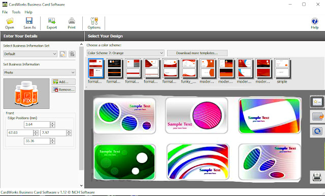 Phần mềm thiết kế card visit name card chuyên nghiệp miễn phí