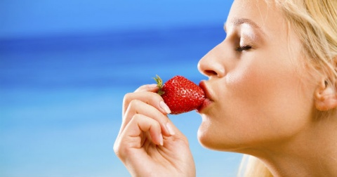 receta para blanquear los dientes con fresas