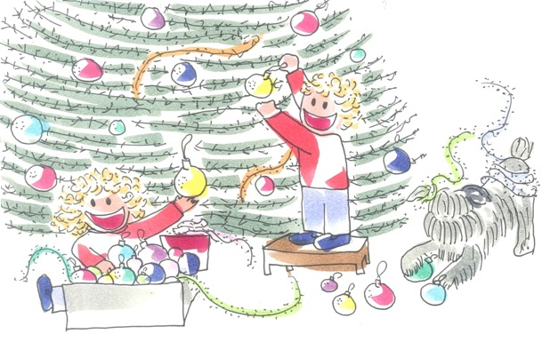 Tina y Leo escriben la carta a los Reyes Magos con su lista de regalos