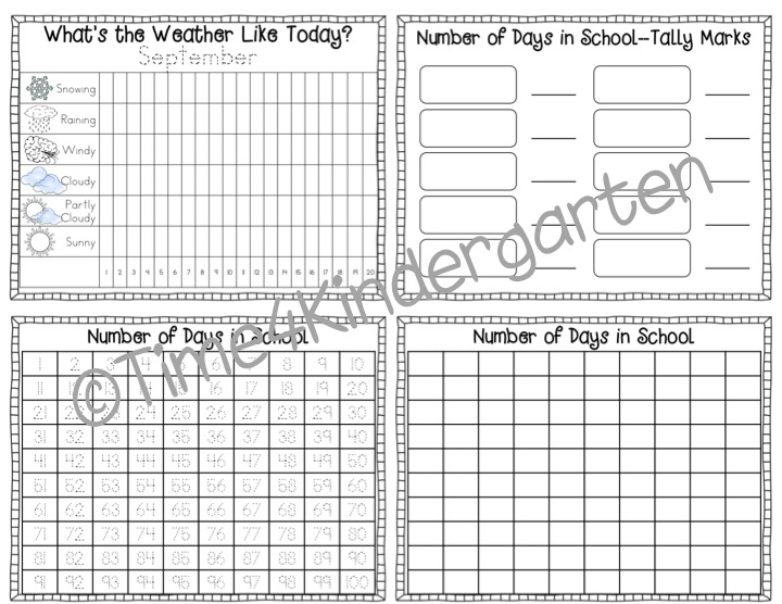 Time 4 Kindergarten: Throw Back Thursday- Calendar Math