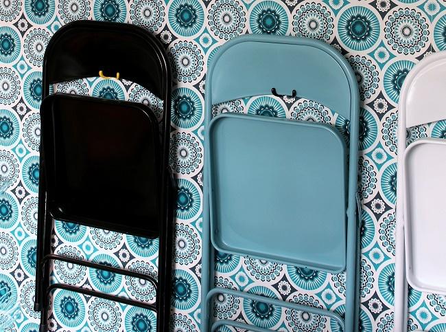 Habitat chairs, darjeeling mini moderns wallpaper