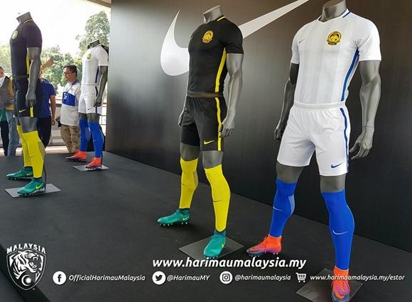 Jersi Harimau Malaysia 2016, 2017 Dan 2018