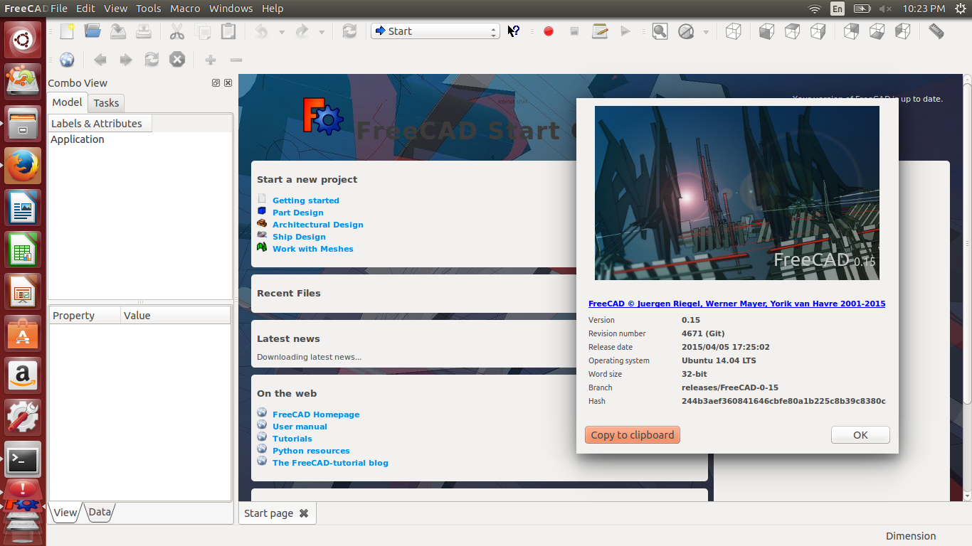 Ubuntu Buzz !: How To Install FreeCAD 0 15 Stable from PPA