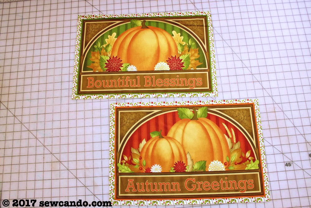 Sew Can Do Quick Amp Easy Harvest Greetings Pillow Set Tutorial
