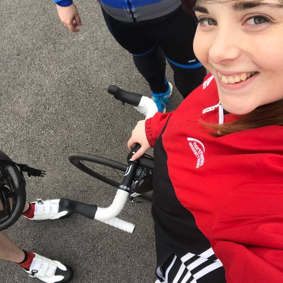 northumbria sport colnago selfie