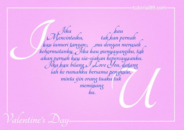 Dimana pada bulai ini tardapat tanggal yang sangat istimewa bagi sebagian kalangan Cara menciptakan kartu ucapan valentin dengan photoshop