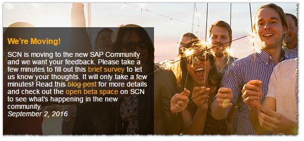 SAP SCN oficial anuncia nuevo diseño - Consultoria-SAP