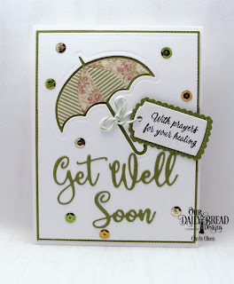 Our Daily Bread Designs Stamp Set: Get Well Wishes  Custom Dies: Get Well Soon, Umbrellas, A Gift for You, Rectangles, Pierced Rectangles, Paper Collections: Blushing Rose, Christmas Coordinating 2015