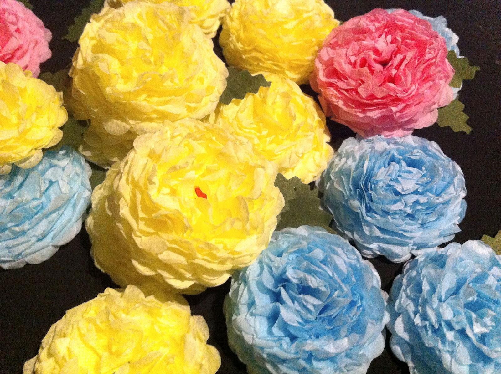 Sbartist Painting In The Dark Handmade Tissue Paper Flowers For