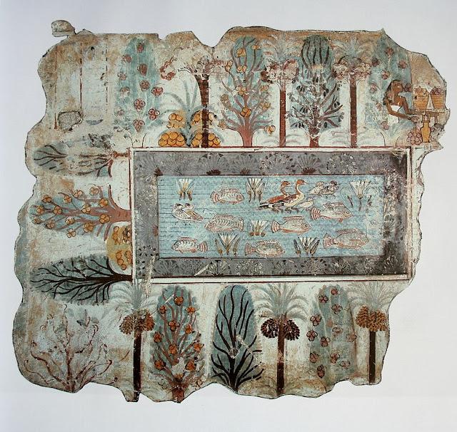 The Garden, fresco from Nebamun tomb, 1380 BC