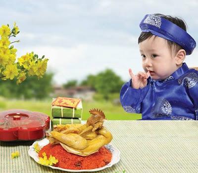 cân bằng dinh dưỡng ngày tết cho trẻ