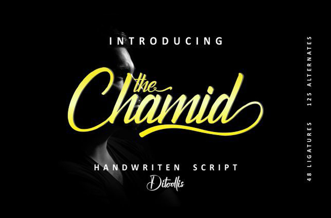 The Chamid Calligraphy Script Font Free Download - Free