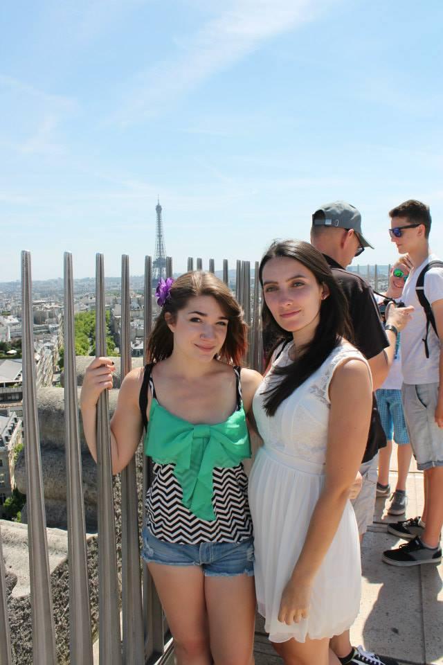 on top of arc de triomphe