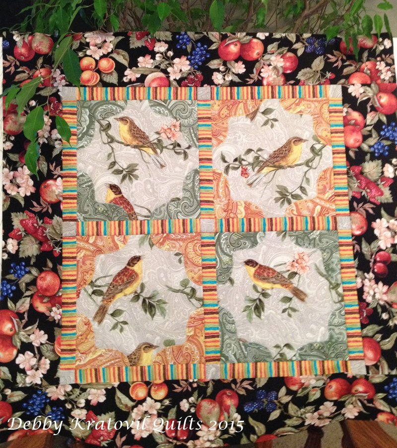 Photo Corners Birds Quilt