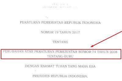 Penting, Ini PP Nomor 19 Tahun 2017 Tentang Guru