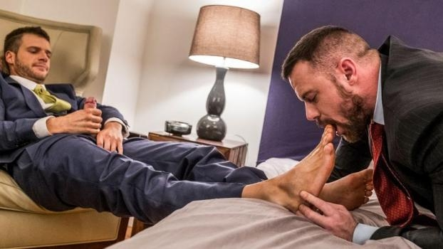 Brian Bonds Embraces Sergeant Miles' Foot Fetish