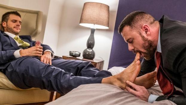Brian Bonds Embraces Sergeant Miles' Foot Fetish
