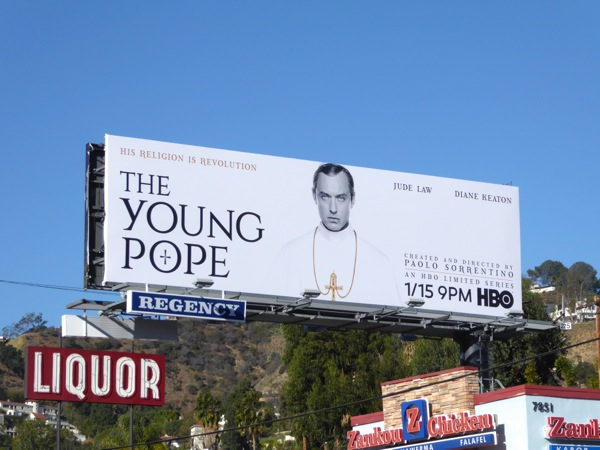 Young Pope TV series billboard