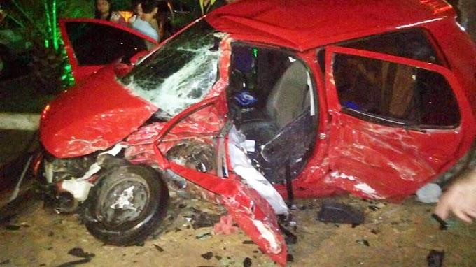 Guaraciaba -CE: Grave acidente envolvendo dois veículos, na noite deste domingo.