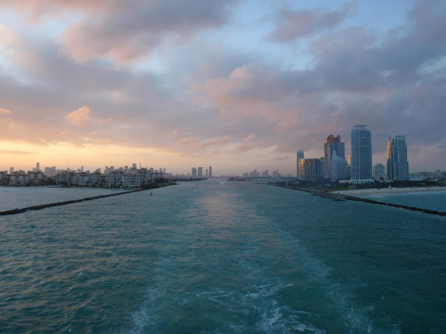 setting sail from the Port of Miami