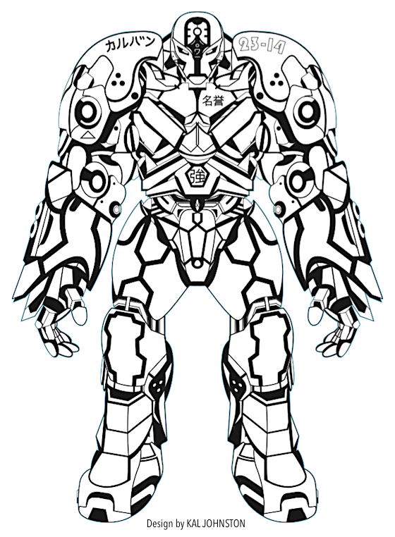 Mech Warrior Laser Cut By Kal Johnstone