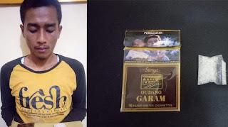 Sergap Transaksi Narkoba, Aparat Polsek Kualasimpang Ciduk Pemuda Berstatus Mahasiswa