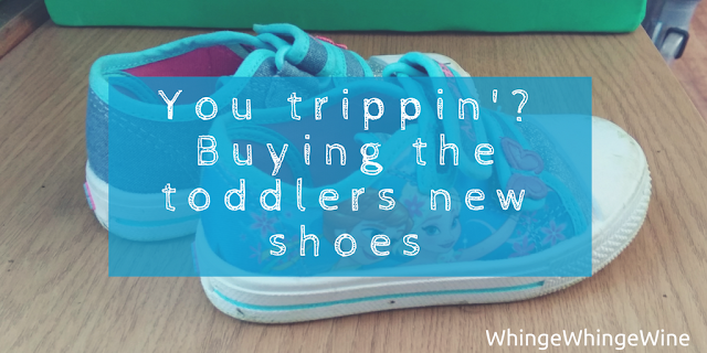 You trippin'? Adventures in buying the toddlers new shoes