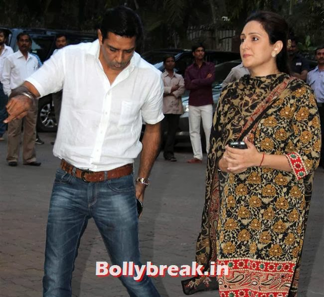 Anup Soni and Juhi Babbar, Celebs at Farooq Sheikh Prayer Meet