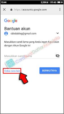 lupa sandi akun google dengan perintah hp android