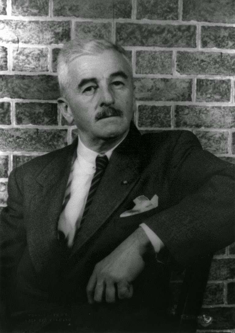 Photo of William Faulkner.  Image Source http://upload.wikimedia.org/wikipedia/commons/9/9a/William_Faulkner_01_KMJ.jpg