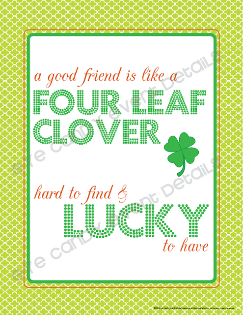 four leaf clover art, st pattys day art, free st pattys art print, lucky