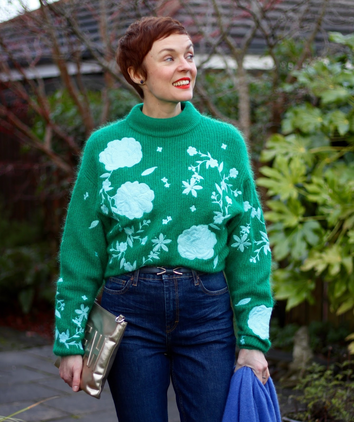Blogger's favourite H&M Embroidered Jumper & Topshop Orson Jeans | Fake Fabulous