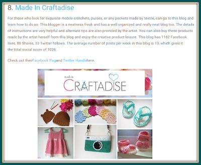 Made in Craftadise : Top 14 Socially Active Art Blogs In India