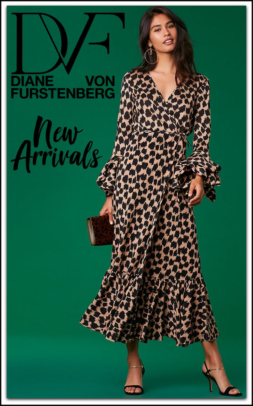 Diane Von Furstenberg Puff Sleeve Wrap Dress