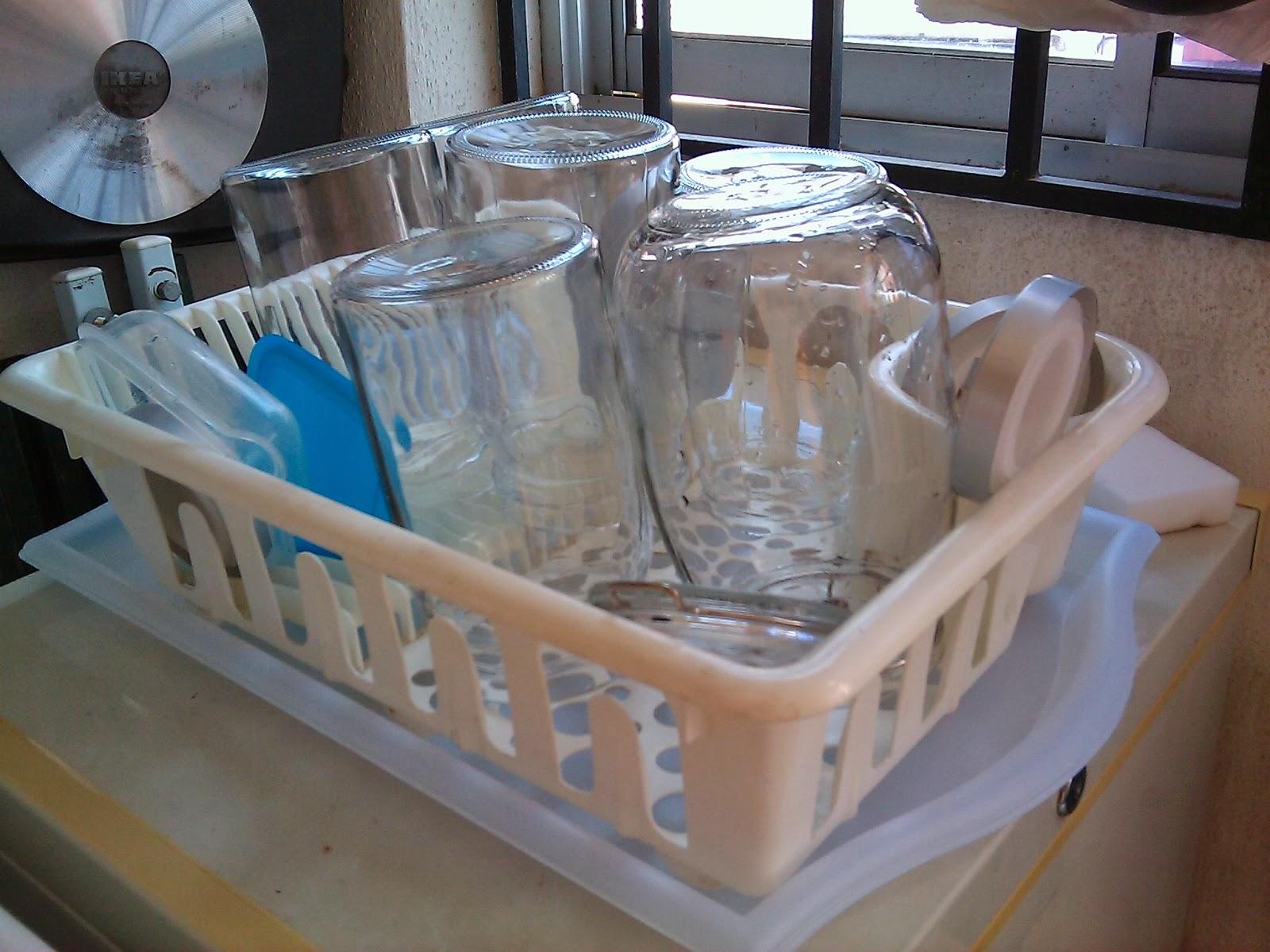 Fungsi 2 Saya Ada Lagi Satu Tempat Keringkan Pinggan Mangkuk Kat Ruang Laundry Pantry Dish Drainer Ni Letak Atas Box Freezer