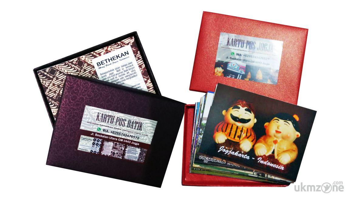 Kartu Pos Batik dan Kartu Pos Jogja produk UKM UMKM IKM KARTU POS BATIK dari kota Yogyakarta
