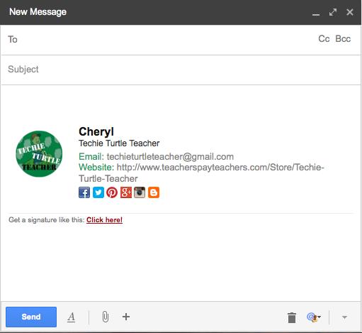 Techie Turtle Teacher Tech Tip Tuesday Custom Email