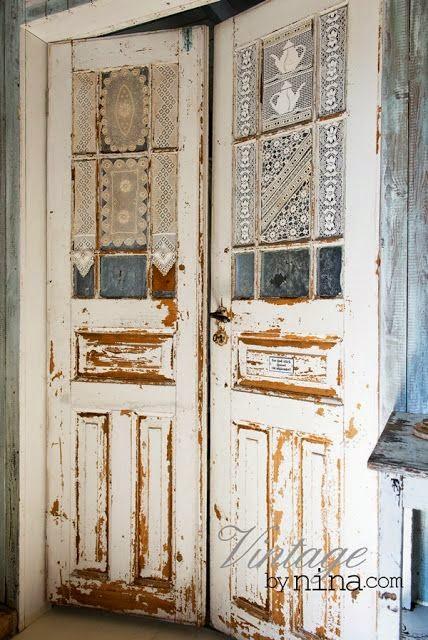 old antiqued doors