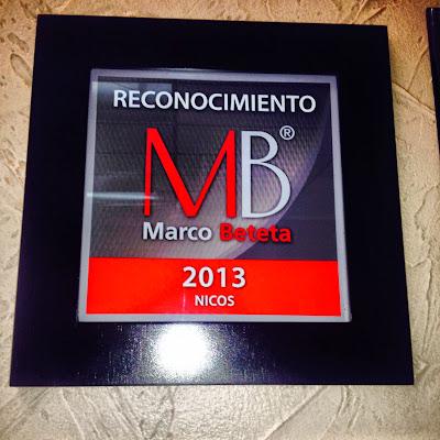 Reconocimiento Marco Beteta a Nico